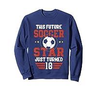 10th Birthday Soccer Birthday Boy Shirts Sweatshirt Navy