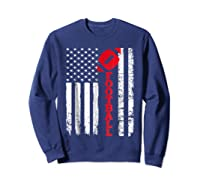 Football Shirt: Usa American Flag Sport Team Fan T-shirt Sweatshirt Navy