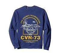 Cvn-73 Uss George Washington Zip Shirts Sweatshirt Navy