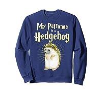 My Patronus Is A Hedgehog Harry Fan Cute Gift Shirts Sweatshirt Navy