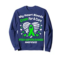 For A Cure Primary Sclerosing Cholangitis Awareness Shirts Sweatshirt Navy