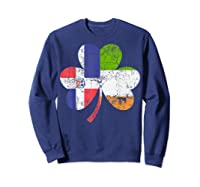 Irish Dominican Flag Ireland Shamrock St Patricks Day Shirts Sweatshirt Navy