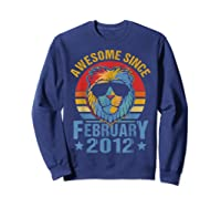 Lion 2012 Awesome February 8th Birthday Gifts King T-shirt Sweatshirt Navy