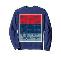 Aneisha Vintage Airplane Gift For Pilot Aviation Students Shirts Sweatshirt Navy