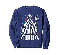 Shotgun Christmas Tree For Duck Hunters Shirts Sweatshirt Navy