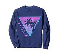 90's Retro Palm Japanese Otaku Grunge Aesthetic Vaporwave Shirts Sweatshirt Navy
