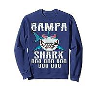 Bampa Shark Doo Doo Shirt - Matching Family Shark Shirts Sweatshirt Navy