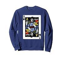 Star Trek Original Series Spock Playing Card Shirts Sweatshirt Navy