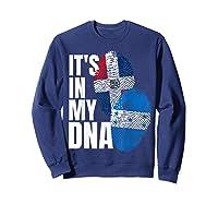 Honduran And Dominican Mix Dna Flag Heritage Gift Shirts Sweatshirt Navy