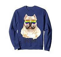 American Bully Sunglasses Pride Lgbt Rainbow Flag Shirts Sweatshirt Navy