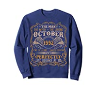 October 1992 Man Myth Legend 28th Birthday 28 Years Old Shirts Sweatshirt Navy