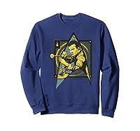 Star Trek Captain James Tiberius Kirk Fan Art Shirts Sweatshirt Navy