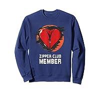 Open Heart Surgery Shirt Survivor Post Attack Recovery Gift Sweatshirt Navy