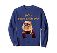 Brussels Griffon Dog Halloween Otter You're A Brussels Shirts Sweatshirt Navy