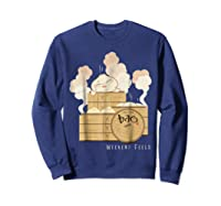 Pixar Bao Weekend Woodblock Feels Graphic Shirts Sweatshirt Navy