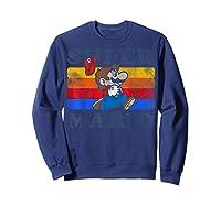 Super Mario Losing Hat Stripes Shirts Sweatshirt Navy