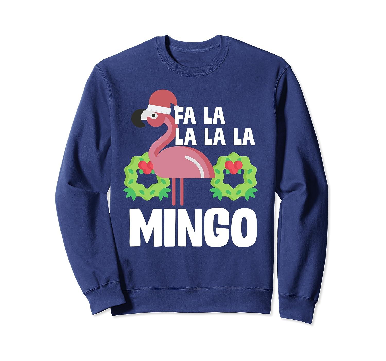 Fa La La Mingo Santa Christmas Flamingo Gift Sweatshirt