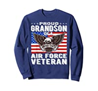 Proud Grandson Of Air Force Veteran Patriotic Military Gifts Shirts Sweatshirt Navy