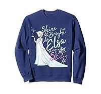 Frozen Elsa Shine Bright On My 5th Birthday Shirts Sweatshirt Navy