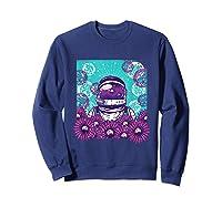 Astronaut Flowers Daisy Bubble Ocean Shirts Sweatshirt Navy