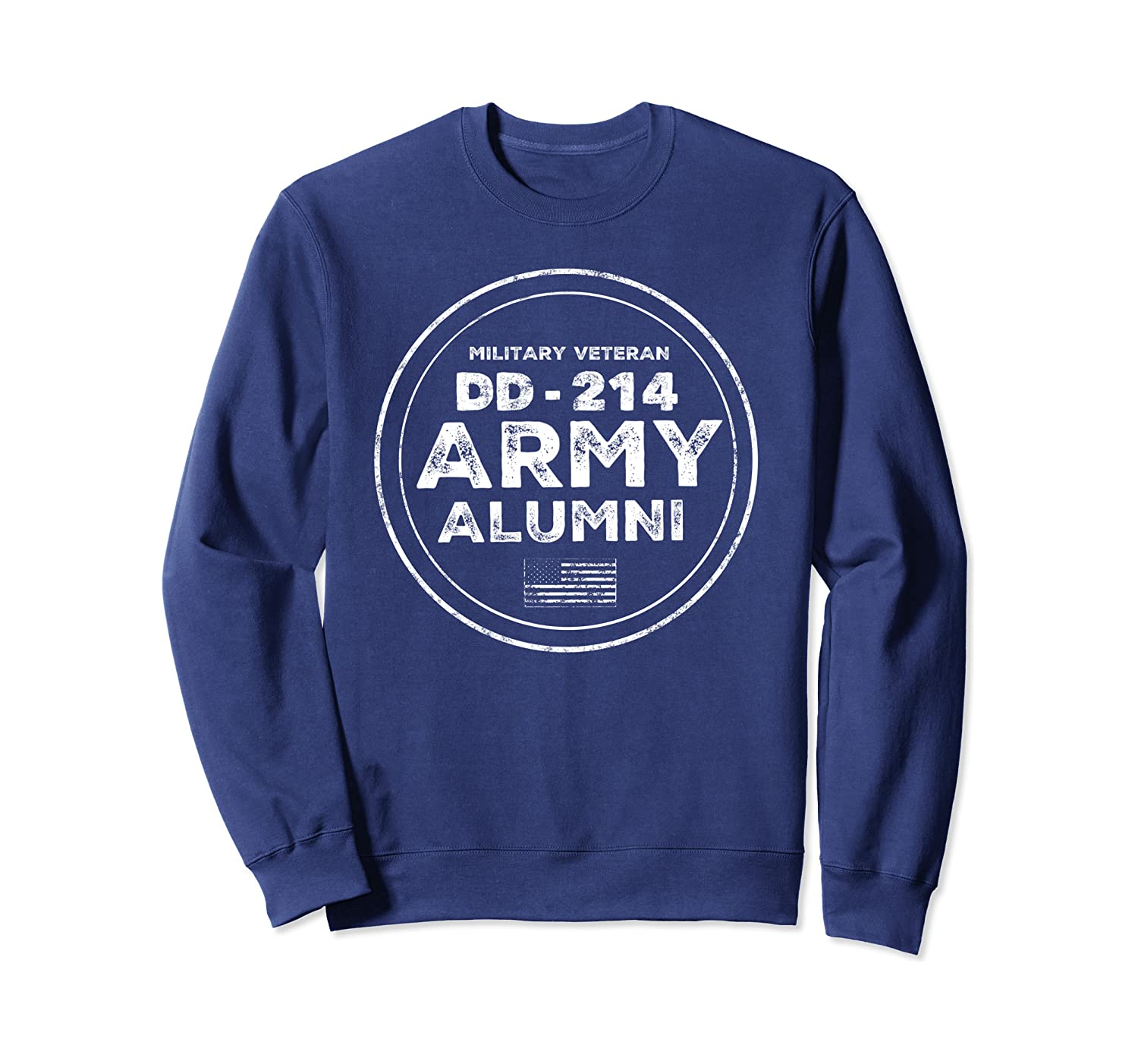 DD-214 US Alumni Army Veterans Flag in Vintage Sweatshirt