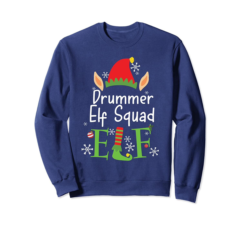 Drummer Elf Squad Gift Christmas Family Group Matching Sweatshirt