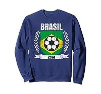 Brazilian 2018 Football Brazil Soccer Fan T-shirt Sweatshirt Navy