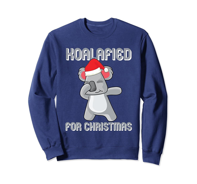 Dabbing Koala Bear Santa Koalafied For Christmas Dab Dance Sweatshirt