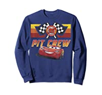 Disney Pixar Cars Mcqueen Pit Crew Red Distressed T-shirt T-shirt Sweatshirt Navy