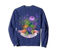 Plant Lady Shirt Gardening Gift Watercolor Flower Garden T-shirt Sweatshirt Navy