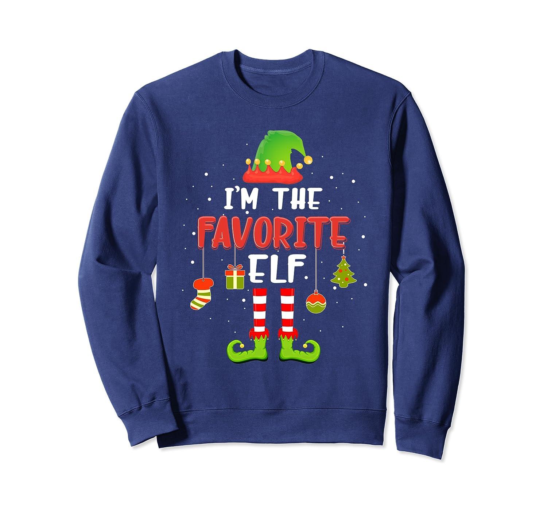 I'm The Favorite Elf Family Matching Funny Christmas Gift Sweatshirt-Awarplus