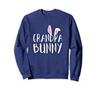 Easter Grandpa Bunny For Paps Family Matching Easter Shirts Sweatshirt Navy