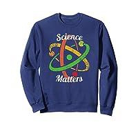 Science T-shirt March Nerd Geek Vintage Distressed Atom Sweatshirt Navy
