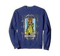 The Queen Of Wands Tarot T-shirt Sweatshirt Navy