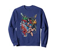 Justice League Refuse To Give Up Shirts Sweatshirt Navy