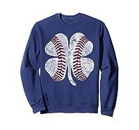 St Patrick\\\'s Day Shamrock Baseball Saint Paddy\\\'s T-shirt Sweatshirt Navy