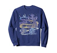 Disney Villains Map Premium T-shirt Sweatshirt Navy