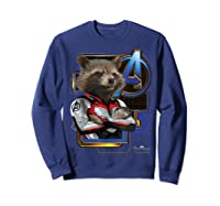 Marvel Avengers Endgame Rocket Logo Graphic T-shirt Sweatshirt Navy