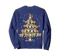 Shetland Sheepdog Christmas Tree Funny Sheltie Christmas T-shirt Sweatshirt Navy