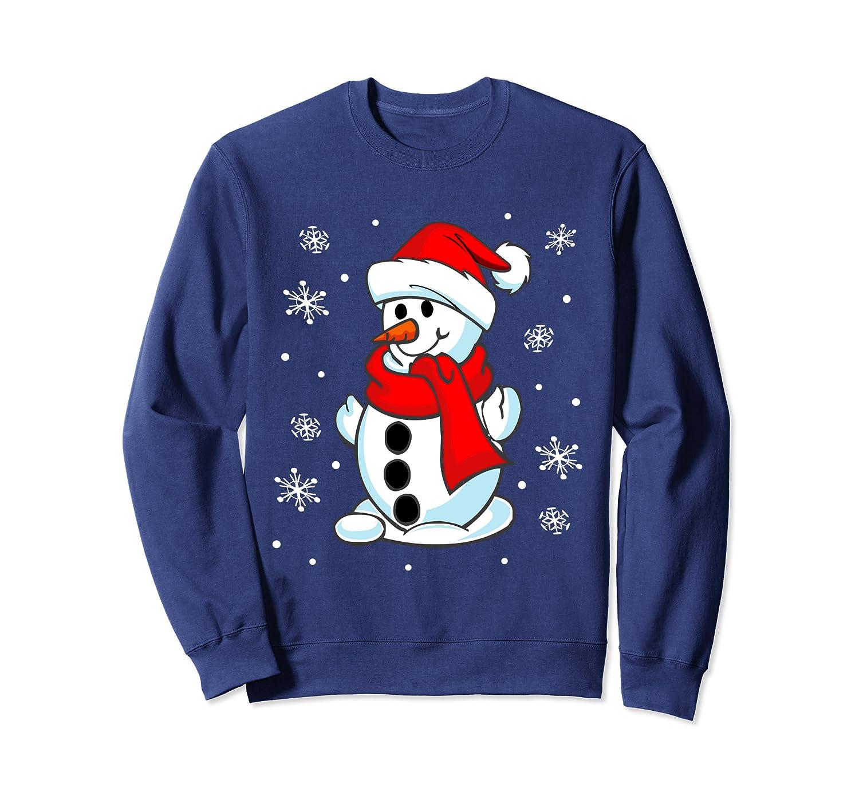 Funny Christmas Snowman Tee Cute Santa Men Women kids Gift Sweatshirt