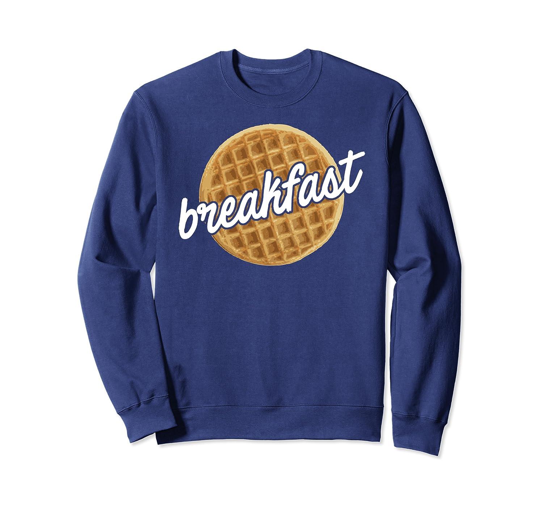 Funny Waffle Breakfast Foodie Gift Sweatshirt
