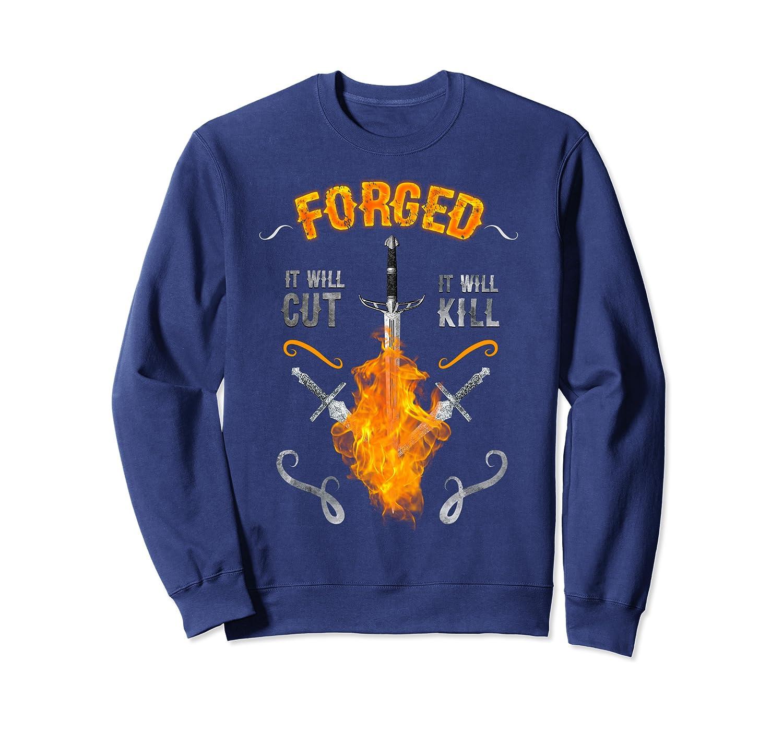 Forged Knives Swords Blacksmithing Forging Gift Christmas Sweatshirt-Awarplus