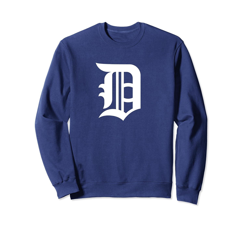 Detroit Baseball D | Vintage Michigan Bengal Tiger Retro Pullover Shirts Crewneck Sweater