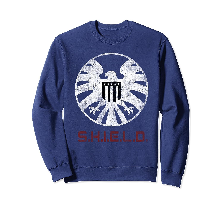 Marvel Agents of SHIELD Distressed Logo Graphic Sweatshirt