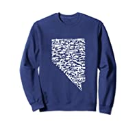 State Of Nevada Made Up Of Guns 2nd Adt Rights Shirts Sweatshirt Navy
