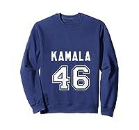 Kamala 46 - Sports Style Kamala Harris Supporter T-shirt Sweatshirt Navy