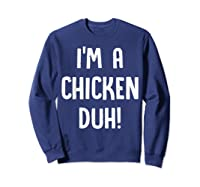 Chicken Halloween Shirt Costume Out Funny Gift Boy Girl Sweatshirt Navy