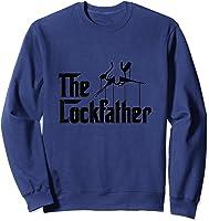 Funny Locksmith - Lockfather T-shirt Sweatshirt Navy