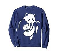 Panda Animal Halloween Diy Costume Funny Shirts Sweatshirt Navy
