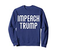 Impeach Trump Vintage T Shirt Sweatshirt Navy